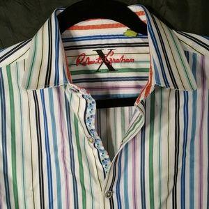 ROBERT X GRAHAM Tailored Fit Multi Color
